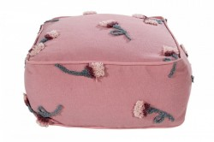 Puf patrat roz din bumbac pentru copii 54x54 cm English Garden Ash Rose Lorena Canals