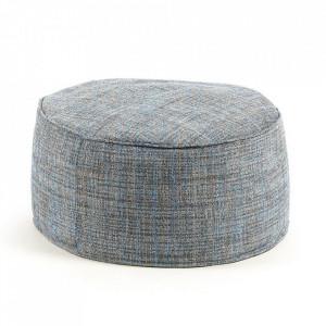Puf rotund multicolor din textil 60 cm Boho Blue Kave Home
