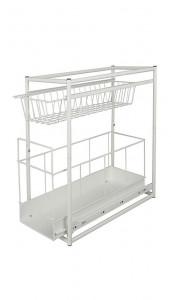 Raft alb din metal 45x45 cm Cabinet Compartments Wenko