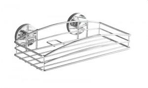 Raft argintiu din inox 26 cm pentru baie Vacuum-Loc Wall Shelf Wenko