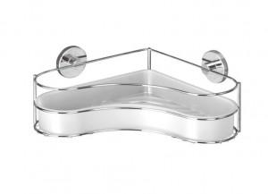 Raft argintiu din inox 35 cm pentru baie Vacuum-Loc Corner Bin Milazzo Wenko