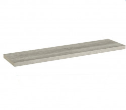 Raft gri din MDF 120 cm Gray XL Shelf Unimasa