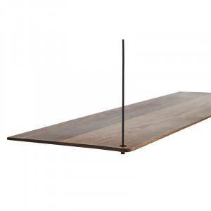 Raft maro inchis/negru din lemn de stejar si metal 60 cm Stedge Add-On Woud