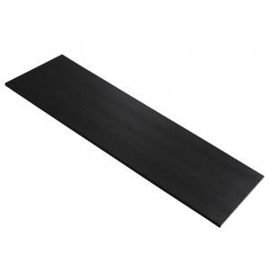 Raft negru din lemn de stejar Elevate E Woud