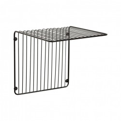 Raft negru din metal 31 cm Wall Large Hubsch