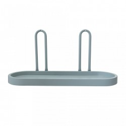 Raft oval verde in MDF cu manere de metal 50x25,5x18 cm Bloomingville