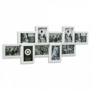 Rama foto alba din polipropilena 36x88 cm pentru 10 fotografii Portafotos Blanco Medium Versa Home