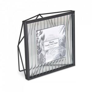 Rama foto neagra din metal si sticla 17x17 cm Factory Opjet Paris