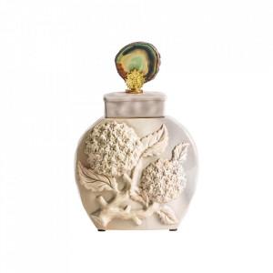 Recipient cu capac crem din ceramica 21x36 cm Gredel Vical Home