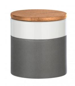 Recipient cu capac multicolor din ceramica si lemn 0,45 L Malta Mini Wenko