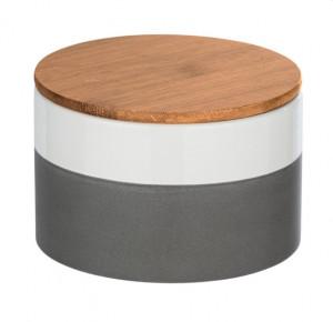Recipient cu capac multicolor din ceramica si lemn 0,75 L Malta Medium Wenko
