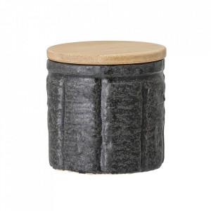 Recipient cu capac negru din ceramica 150 ml Maya Bloomingville