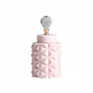 Recipient cu capac roz din ceramica 15x32 cm Saburo Vical Home
