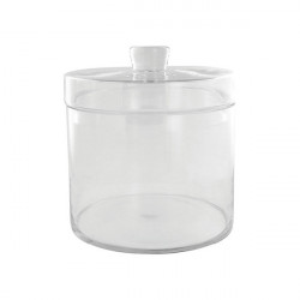 Recipient cu capac transparent din sticla 16x16 cm Bo LifeStyle Home Collection