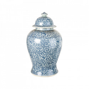 Recipient din portelan cu capac 30x50 cm Colette Blue Vical Home