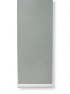 Rola tapet 53x1000 cm Lines gri Ferm Living