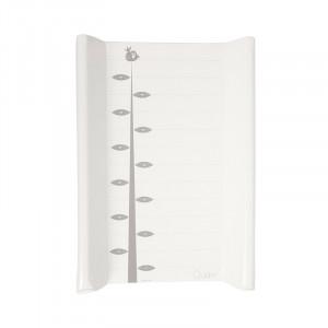 Saltea alba din PVC pentru masa de infasat 50x70 cm Lara Ruler Quax