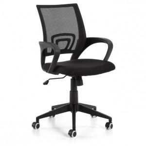 Scaun birou ajustabil cu roti plastic negru Ebor La Forma