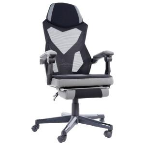 Scaun birou ajustabil gri/negru din textil si metal Q-939 Signal Meble