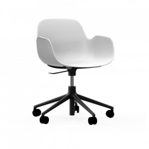 Scaun birou ajustabil rotativ alb/negru din polipropilena Form 5W Normann Copenhagen