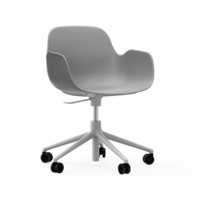 Scaun birou ajustabil rotativ gri/alb din polipropilena Form 5W Normann Copenhagen