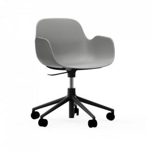 Scaun birou ajustabil rotativ gri/negru din polipropilena Form 5W Normann Copenhagen