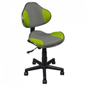 Scaun birou ajustabil verde/gri din textil si metal Q-G2 Signal Meble
