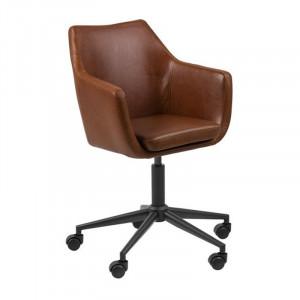 Scaun birou maro/negru din metal si poliuretan Nora Actona Company