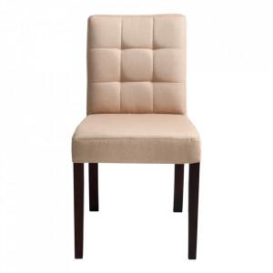 Scaun dining crem din textil si lemn Wilton Custom Form