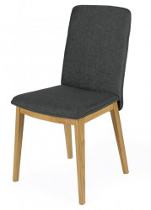 Scaun dining din textil si lemn Adra Oak Grey Woodman