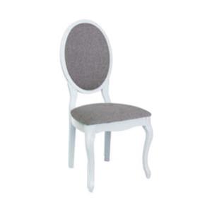 Scaun dining gri/alb din textil si lemn Doha Signal Meble