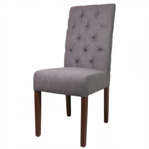 Scaun dining gri deschis din textil si lemn Cambridge HSM Collection