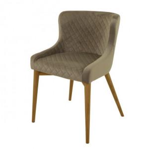Scaun dining gri din lemn si textil Paris Zago