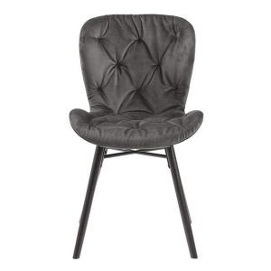 Scaun dining gri inchis/negru din textil si metal Batilda Anne Actona Company