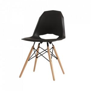 Scaun dining negru din lemn si metal Match Custom Form