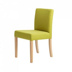 Scaun dining verde din poliester si lemn Wilton Custom Form