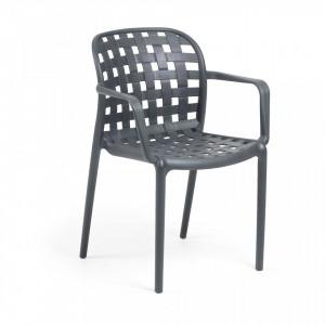 Scaun gri din plastic pentru interior sau exterior Onha La Forma