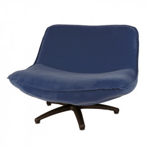 Scaun lounge albastru din poliester si lemn Forli Seven LifeStyle Home Collection