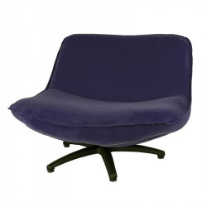 Scaun lounge albastru nocturn din poliester si lemn Forli Seven LifeStyle Home Collection