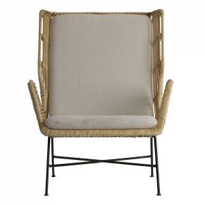 Scaun lounge din ratan si fier Wutach Vical Home
