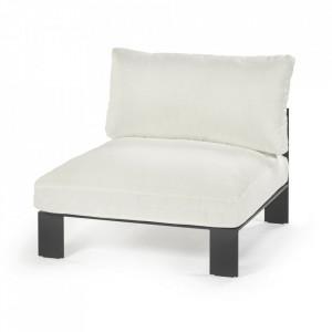 Scaun lounge exterior alb din textil si aluminiu Athena Serax
