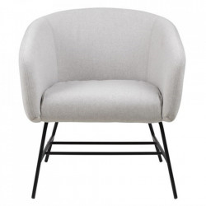 Scaun lounge gri deschis/negru din poliester si metal Ramsey Actona Company