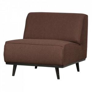 Scaun lounge maro cafeniu/negru din poliester si lemn Statement Boucle Be Pure Home
