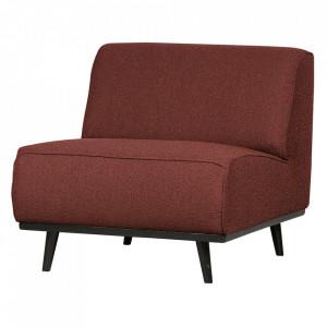 Scaun lounge maro castana/negru din poliester si lemn Statement Boucle Be Pure Home