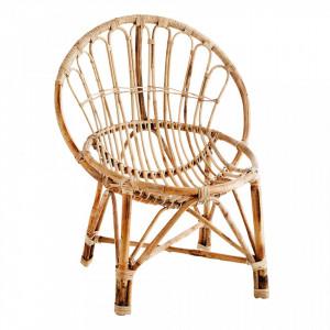 Scaun lounge maro din bambus Chira Madam Stoltz