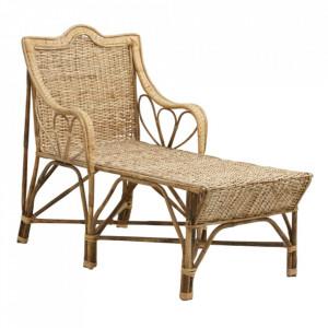 Scaun lounge maro din ratan Zeya Nordal