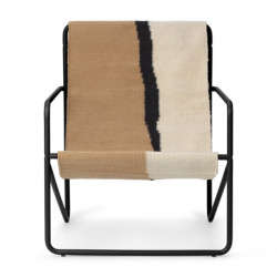 Scaun lounge multicolor din textil si metal Desert Black Ferm Living