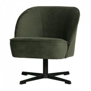 Scaun lounge rotativ verde onix din otel si catifea Vogue Be Pure Home
