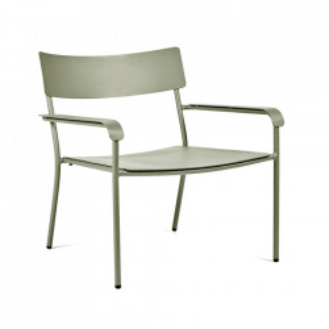 Scaun lounge verde din aluminiu August Serax