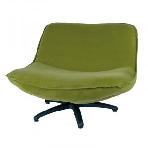 Scaun lounge verde muschi din poliester si lemn Forli Seven LifeStyle Home Collection